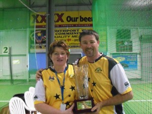 Nicki at the Indoor Cricket Masters World Series, 2010