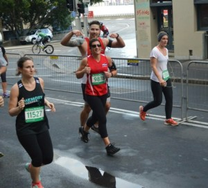 Two of our clients, photographed during the SMH half-marathon, 17/5/2015