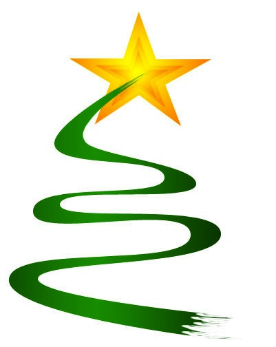 Christmas 2018 graphic, a Stylised Tree with Star