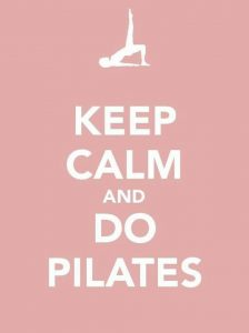 """Keep calm and do Pilates"" poster"