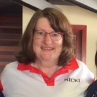 Nicki Cooke wearing her IC Sports Clinic shirt